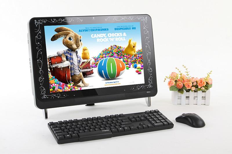 供应22寸DIY电视电脑一体机机箱22寸一体机机箱(带玻璃)(黑白)