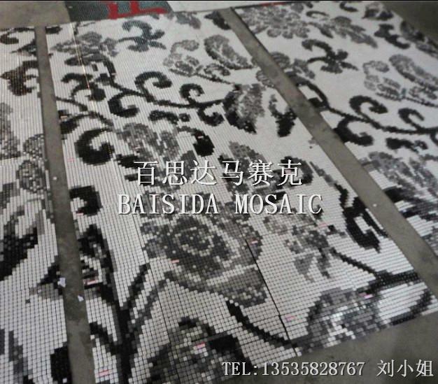 供应陶瓷马赛克拼图厂家-黑白拼图马赛克直销