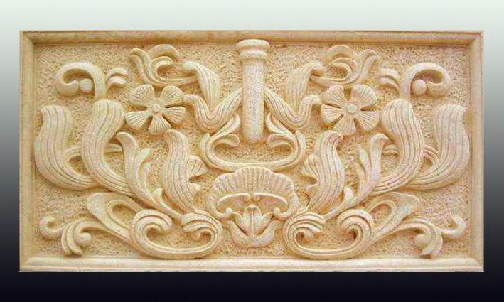 一般石膏浮雕装饰产品图案花纹的凹凸应在10毫米以上