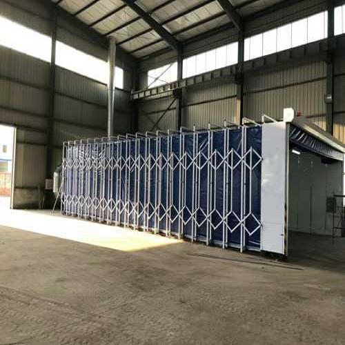 无尘装置移动伸缩房_伸缩式喷漆房价格_济南海诺工程材料有限公司
