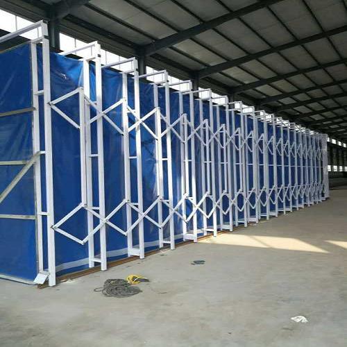 伸缩移动式喷漆房厂家/移动伸缩房风机/济南海诺工程材料有限公司