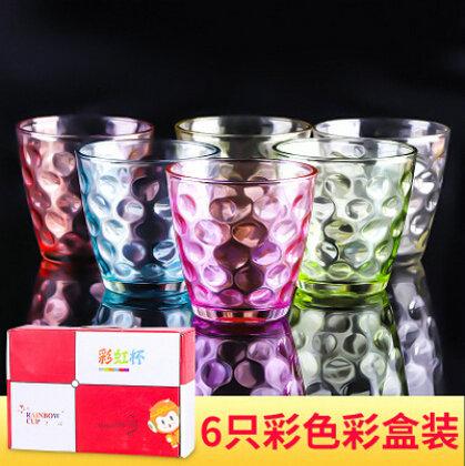 厂家直销可定制雨点杯创意玻璃果汁杯