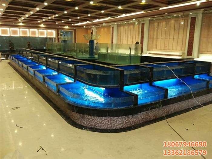 鑫桥水族|杭州酒店海鲜池制作|杭州海鲜池设计|杭州酒店鱼缸设计