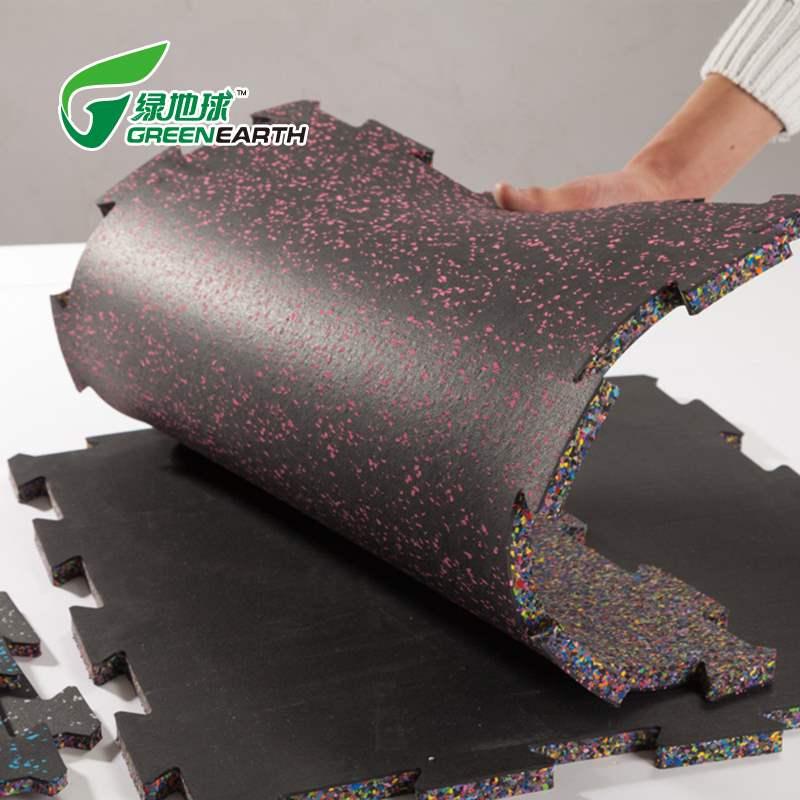 这个厂家不一般-绿地球健身房环保泡棉拼接橡胶地垫
