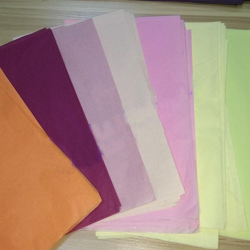 彩色卷筒包装纸工艺品礼品包装纸16克彩色棉纸