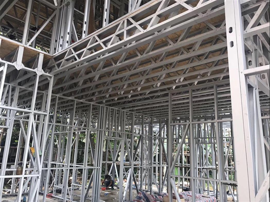 西安鍍鋁鋅輕鋼別墅骨架出售