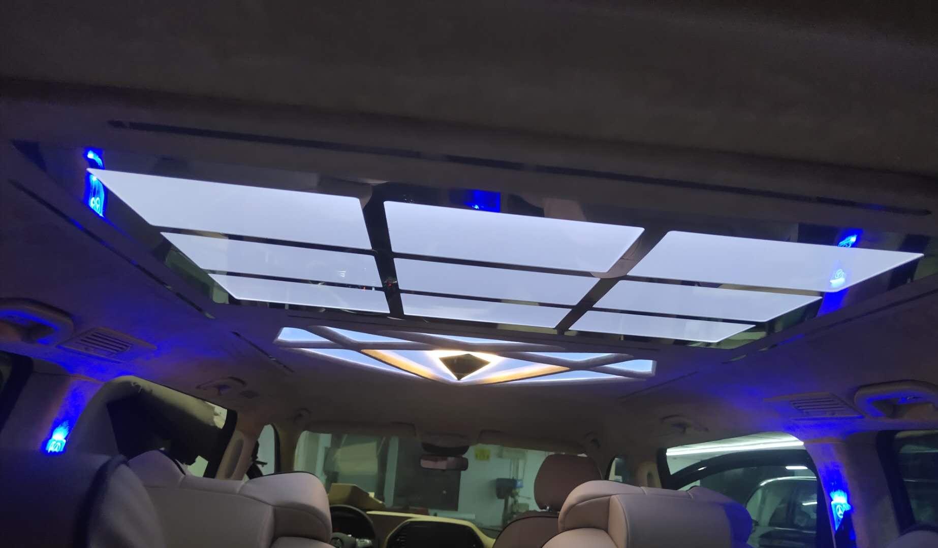 金華汽車頂棚改裝星空頂流星雨