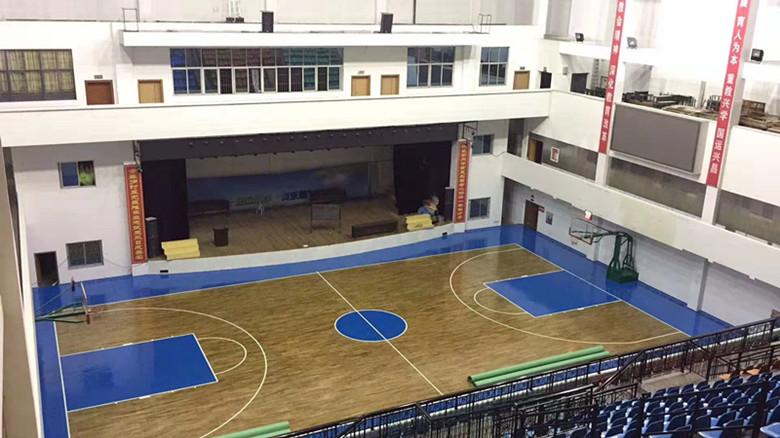 湘潭縣硬木企口籃球館木地板廠