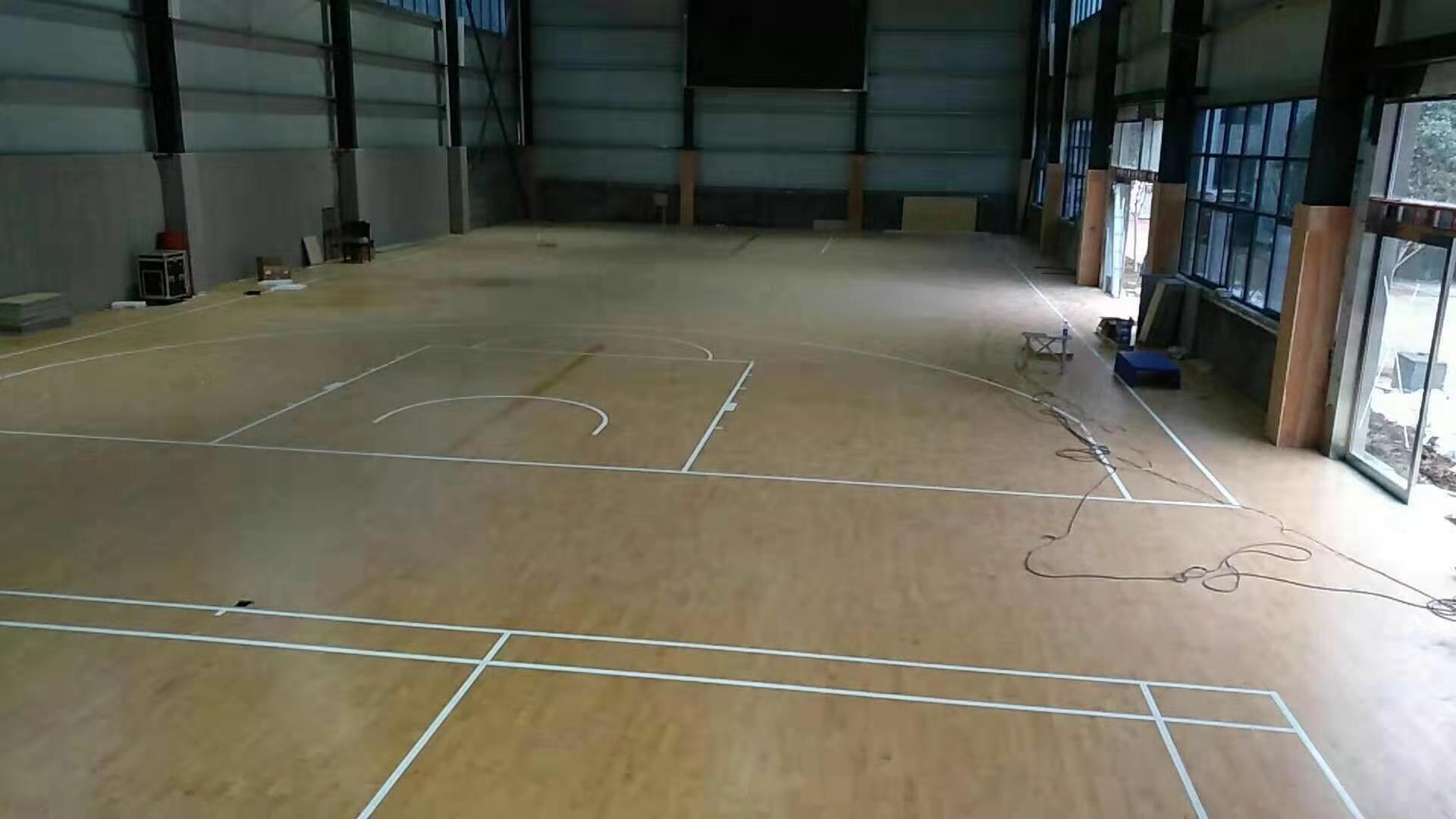 道縣20厚運動木地板翻新
