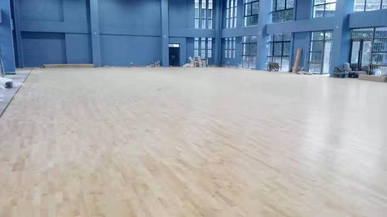 雙峰楓木籃球地板 楓木運動地板