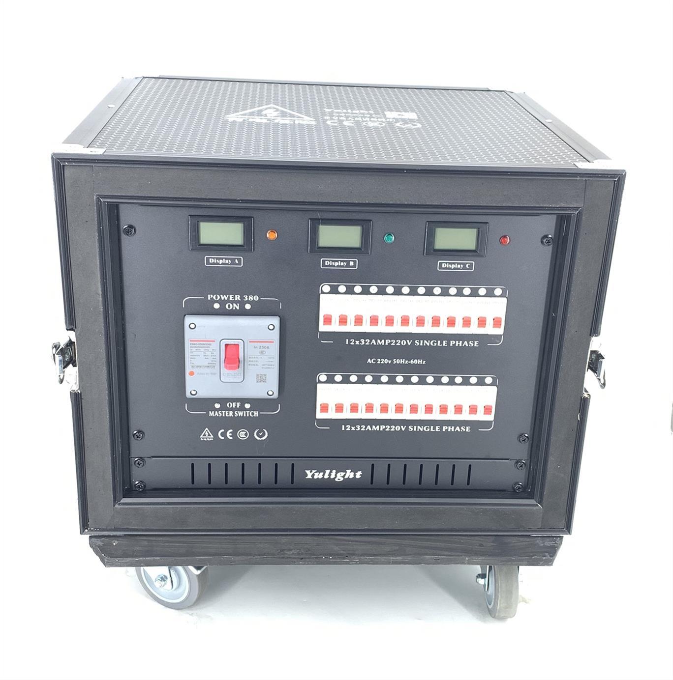 蚌埠舞台灯光12路电源直通箱 12路电源箱 制造工艺优