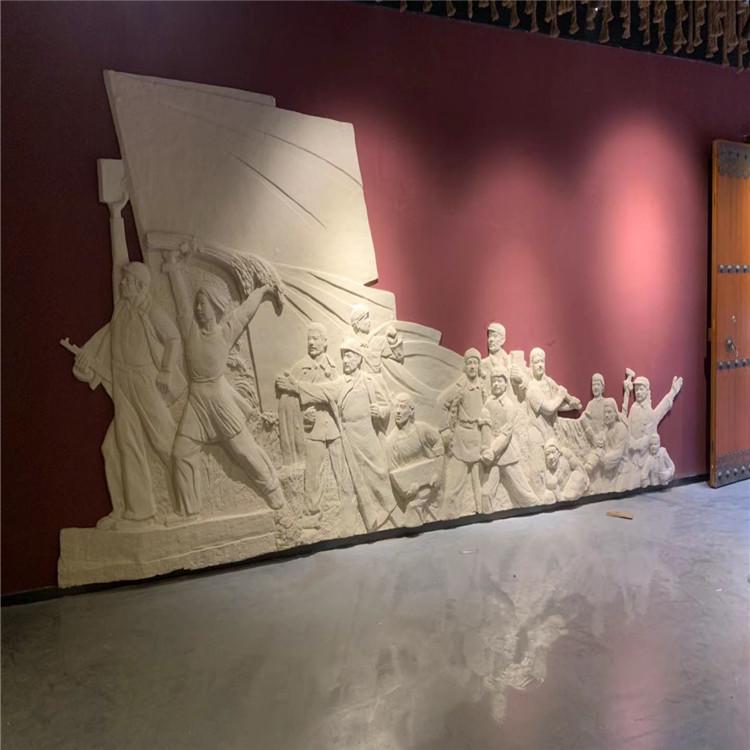 廣場宣傳玻璃鋼浮雕雕塑生產廠家 平面雕塑廠