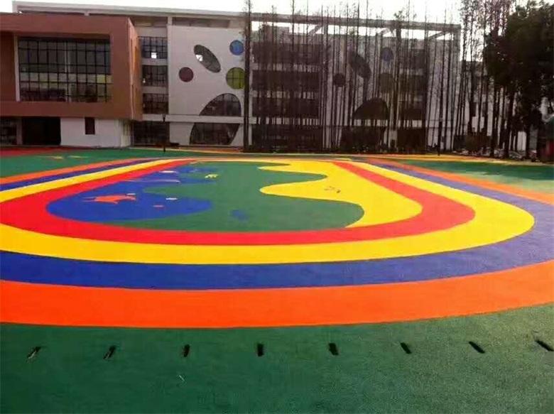 幼兒園塑膠操場施工圖案