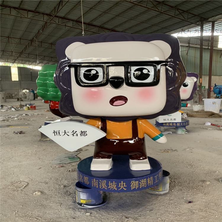 潮州玻璃鋼卡通公仔雕塑生產廠家 廣場美陳