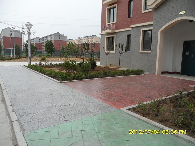 泰安壓花地坪廠家直供 專業施工 江蘇撰石景觀