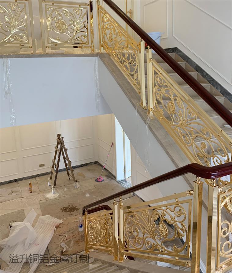 阿壩訂制銅樓梯扶手報價