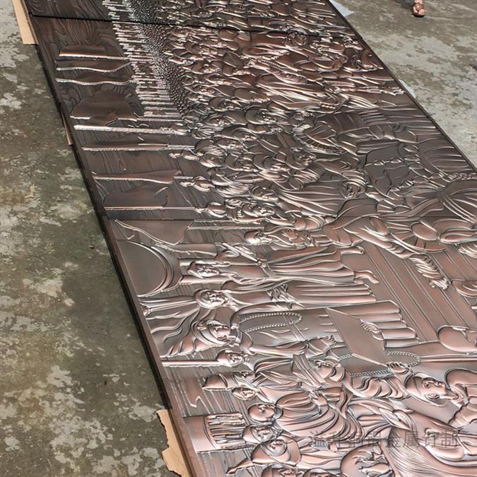 石家莊古銅色銅雕刻屏風報價