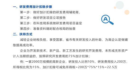 肇慶研發費用加計扣除2019年