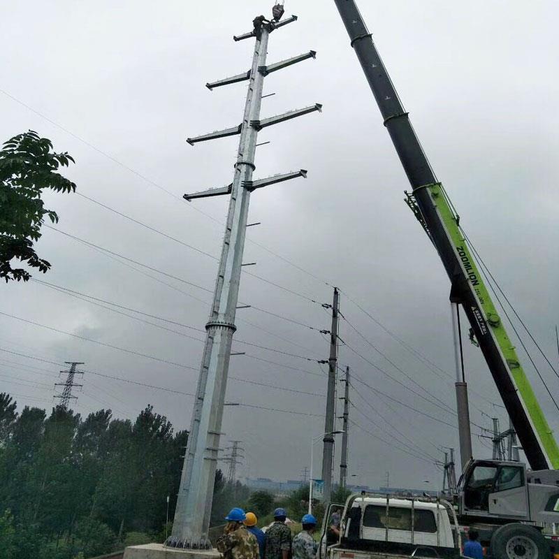 35kv電力鋼管塔規格 直線鋼管桿