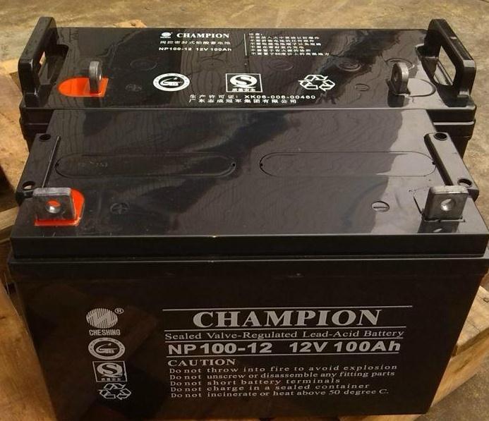 原裝冠軍蓄電池NP100-12型號規格