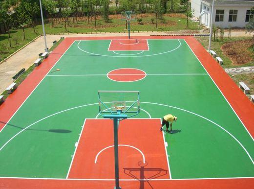貴陽塑膠球場廠家 懸浮拼裝地板籃球場價格