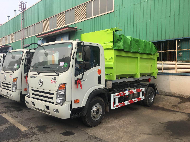 裝卸式垃圾車價格報價 垃圾轉運車報價 側翻掛桶式廠家