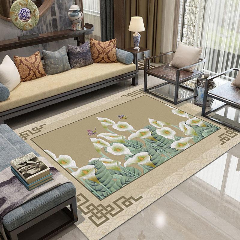 長春臥室印花地毯批發 水晶絨地毯 噴墨工藝
