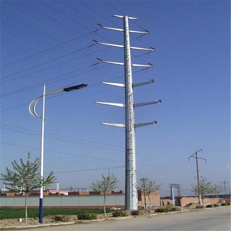 武汉四回路电力钢管塔规格 终端钢杆