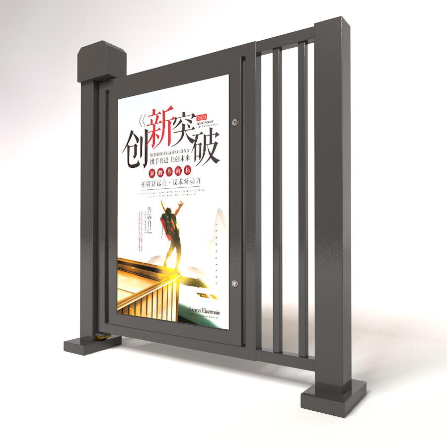 惠州玻璃广告门价格 欢迎咨询